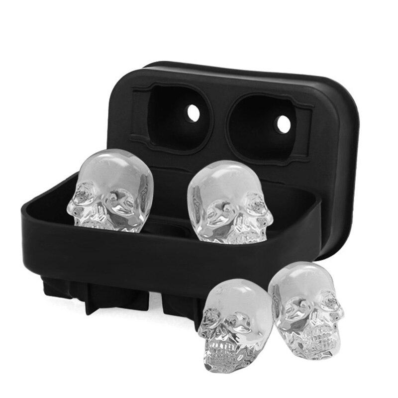 Форма для льда в форме черепа на хэллоуин силиконовые лотки