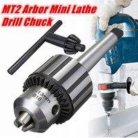 Drill Chuck 5/64 To 1/2 Inch MT2 Arbor Mini Lathe Drill Chuck Taper Mounted Drill Chuck With Key Lathe Accessories
