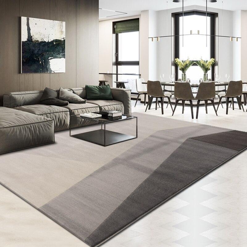 Tapis géométrique moderne salon maison et bureau tapis épais polypropylène chambre tapis canapé Table basse tapis de sol tapis d'étude