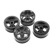 4 Pcs Upgrade Rubber Tires Wheels Spare Parts for WPL 1/16 B14 B16 B24 B36 C14 C24 RC Car Truck upgrade metal op accessory set for wpl rc car b1 b14 b24 c14 c24 1 16 4wd military truck rc cars spare part set perfect fit