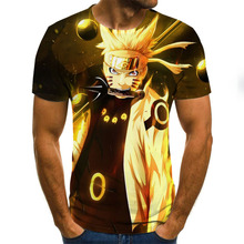 Cool Anime Men's T-shirts Summer Fashion Tops 3D  Round Neck Short Sleeve Anime Casual Shirt T-shirts