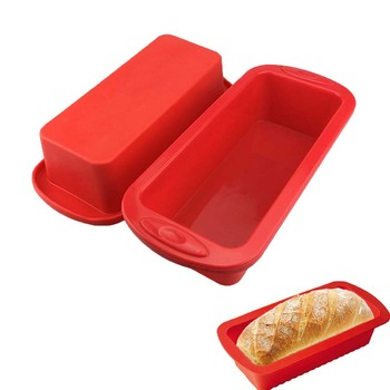 Silicone Cake Mold Rectangle Pan Bakeware Moulds Bread Toast Candy Mold Form Bakeware Baking Dishes Pastry Tools Loaf Pans
