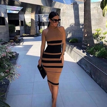 Deer Lady 2019 New Summer Bandage Party Dress Women knee Length Bandage Bodycon Dress Sexy Celebrity Evening Club Dress