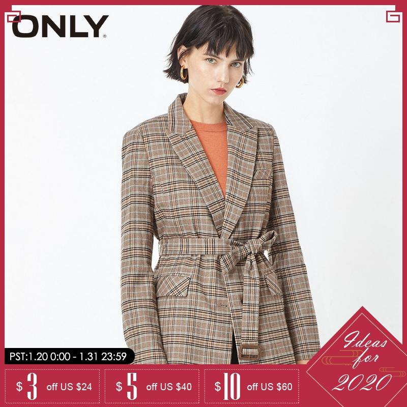 ONLY Winter Women  Cinched Waist Checked Blazer | 119308545
