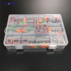 Image 2 - 250pcs Deutsch DT series Waterproof Wire Connector Kit DT06 2/3/4/6S DT04 2/3/4/6P Automotive Sealed Plug with pins box