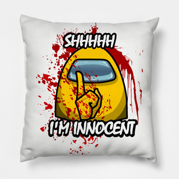 Among us Cushion Cover Pillowcase Home Decor Pillow Case Cover Seat Car Throw Im innocent Printed Pillowcase Decoration For Home image