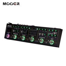 Mooer guitarra efeitos pedal caminhão preto 6 em 1 compressor combinado + overdrive + distorção + eq + modulação + atraso guitarra parte