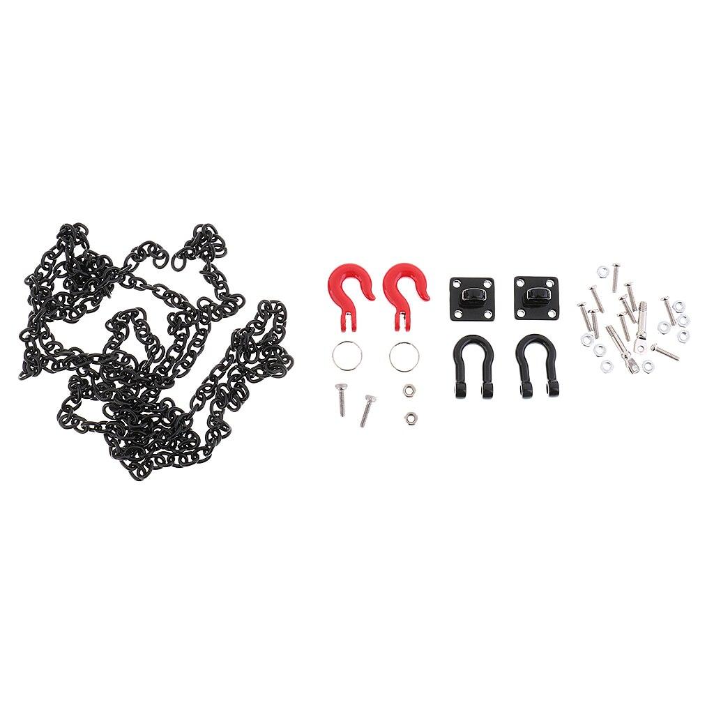 Support de manille de chaîne de remorque de crochet de remorquage de la chenille 110 de RC pour Axial SCX10