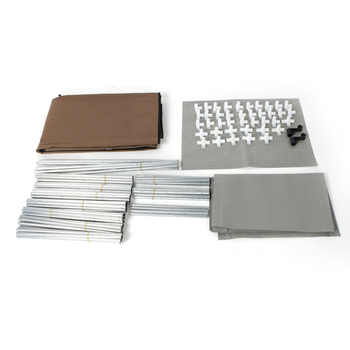 4-Layer 10 Portable Closet Lattices Non-Woven Fabric Wardrobe Coffee Clothes Rack Storage Organizer with Shelf
