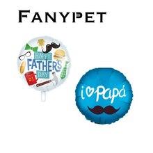 10 pçs balões espanhol feliz dia dos pais hélio globos feliz dia super papai foil balão pai mãe festa decoração globos