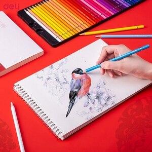 Image 2 - Deli Summer Palace Series 68126 Colored Pencils Colored Pencils 36/48/72 Color Painted Pencils Quality Metal Box