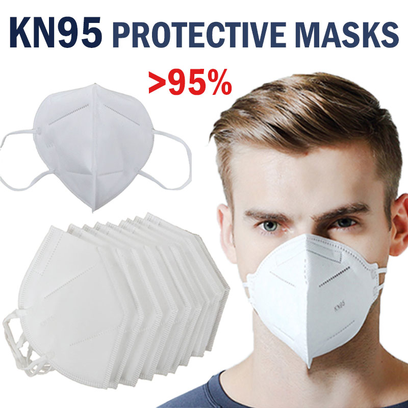 50pcs 9501V+ N95/FFP2 Face Mask CE Certified KN95 Mask Breathable Respirator Personal Health Protection Anti-Fog Dustproof Mas