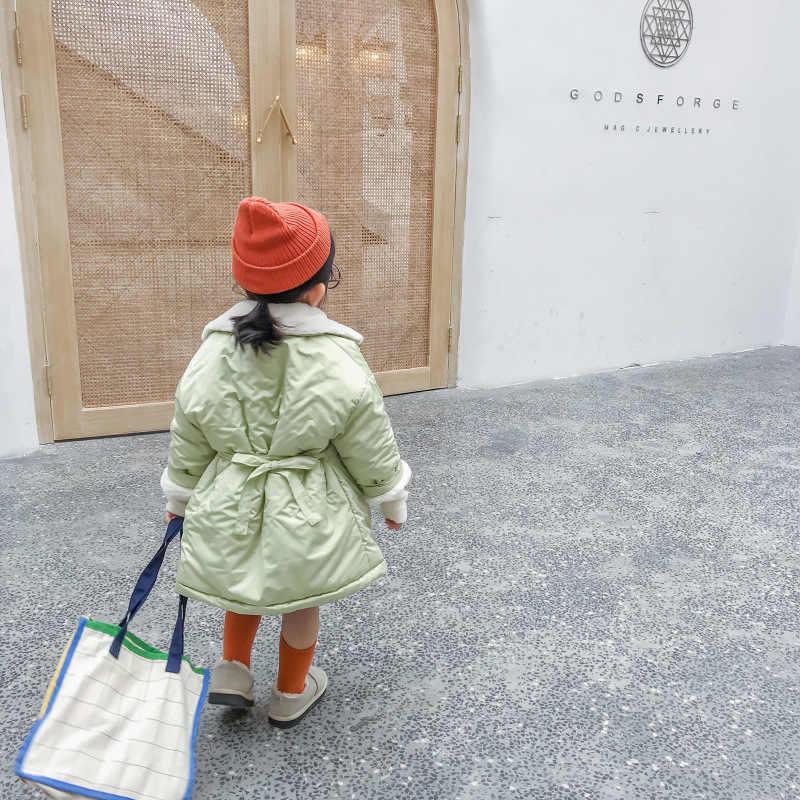 สาวฤดูหนาวของแข็งสีสีทึบ double-breasted เสื้อโค้ทเด็กทารกแฟชั่นแจ็คเก็ต outwear