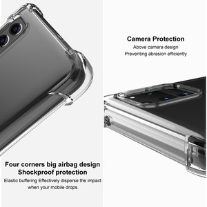Image 4 - IMAK Full Protect Crystal Case for Samsung S21 5G 2021 Back Case Samsung Galaxy S21 Ultra S 21 Plus Phone Cover Coque Shockproof