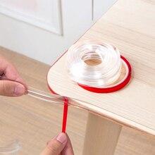 4pcs Baby Safety Table Desk Edge Transparent Edge Corner Protection Strip Baby Collision Proof Edge Guards Soft Softener Bumper