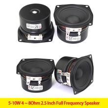 Kyyslb caixa de som hi-fi, 5-10w 4 ~ 8ohm 2.5 Polegada frequência completa diy, unidade de alto-falante bluetooth alto-falante amplificador um par