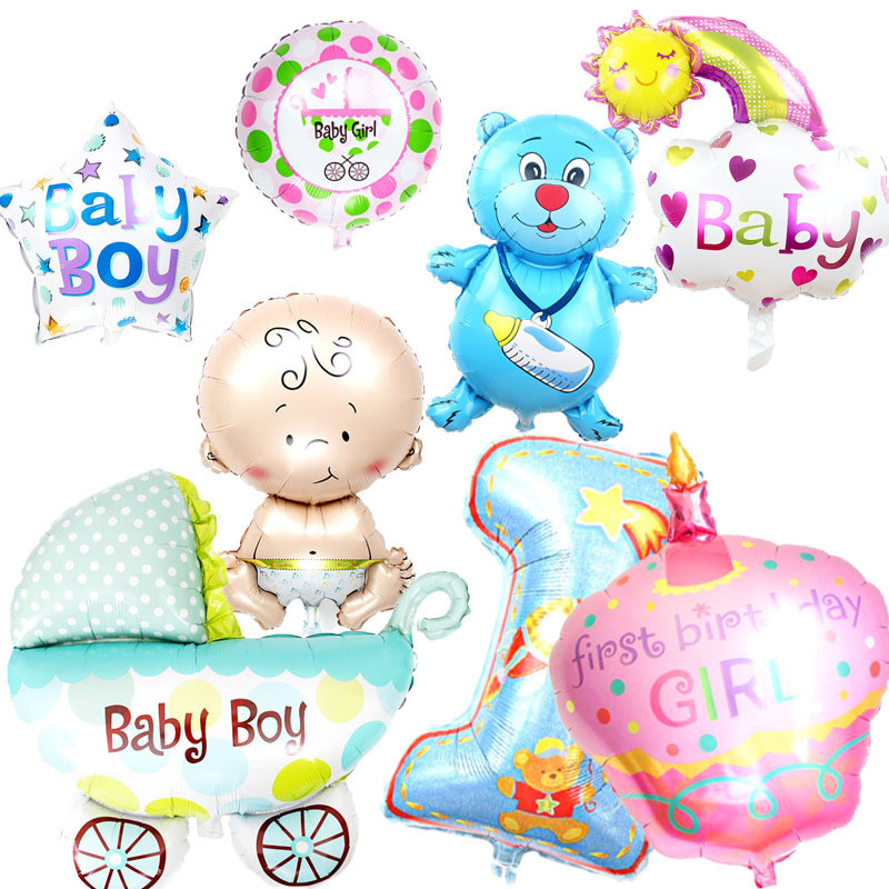 Cartoon Hat Boy, Girl ,animal Balloons Children Baby Aluminum Helium Balloon Birthday Party Decoration Ball Classic Toys