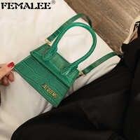 Модные Роскошные ручные сумки брендовые кошельки и сумки женские дизайнерские маленькие сумки через плечо с крокодиловым узором 2019 Мини-су...