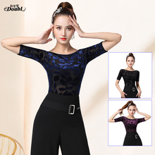 Dance-Clothing Ballroom Modern Women's DOUBL Adult Summer Fabric Lace Half-Sleeve Comfortable