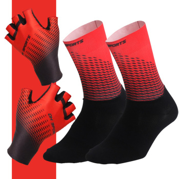 1Pair Half /Full Finger Cycling Gloves With Socks Men Women Sports Bike Racing  Bicycle Set
