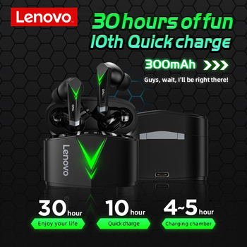 Lenovo LP6 TWS Gaming Earphone New Wireless Buletooth Headphone With Noise Reduction Dual Mode Headset For E-Sports Games Music 2