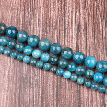 Hot Sale Natural Stone Apatite Beads 15.5 Pick Size: 4 6 8 10 mm fit Diy Charms Beads Jewelry Making Accessories