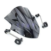 กระจกรถจักรยานยนต์กระจกหน้าจอWINDสำหรับYamaha MT125 FZ1 FZ6 FZ8 FZ8N XJ6 MT 01 MT03 MT09 MT07
