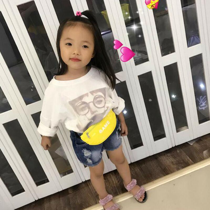 2019 New Kids Girls Leather Waist Fanny Pack Belt Money Pouch Hip Purse Satchel Chest Bag Princess Purse Mini Cross Body Bag