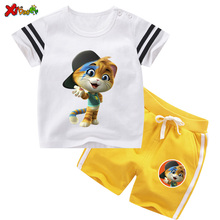 Toddler Baby 2 Pcs Suits Boys Clothes Kids Boy Sport Suit Children Clothing Sets Summer 44 Cool Cats TShirt Casual