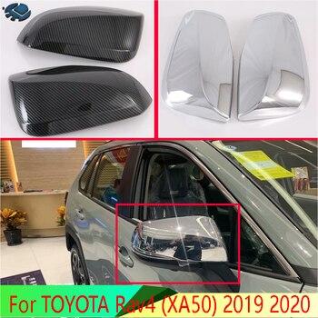 Para toyota rav4 2019 2020 abs chrome porta lateral espelho capa guarnição vista traseira tampa de sobreposição moldagem decore