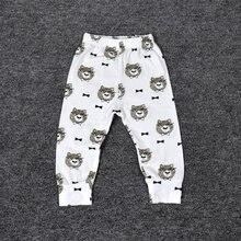 Детские штаны-шаровары для новорожденных мальчиков и девочек, штаны с рисунком, леггинсы, брюки