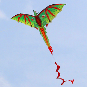 Портативный 3D трехмерный динозавр кайт с хвостом одиночная линия для семьи открытый Летающий детская игрушка