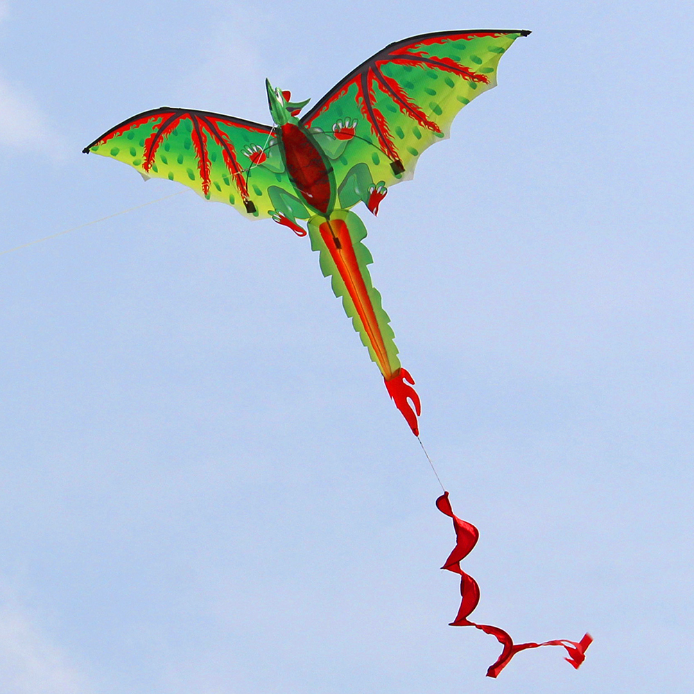 Portable 3D Three-Dimensional Dinosaur Kite With Tail Single Line For Family Outdoor Flying Children Toy