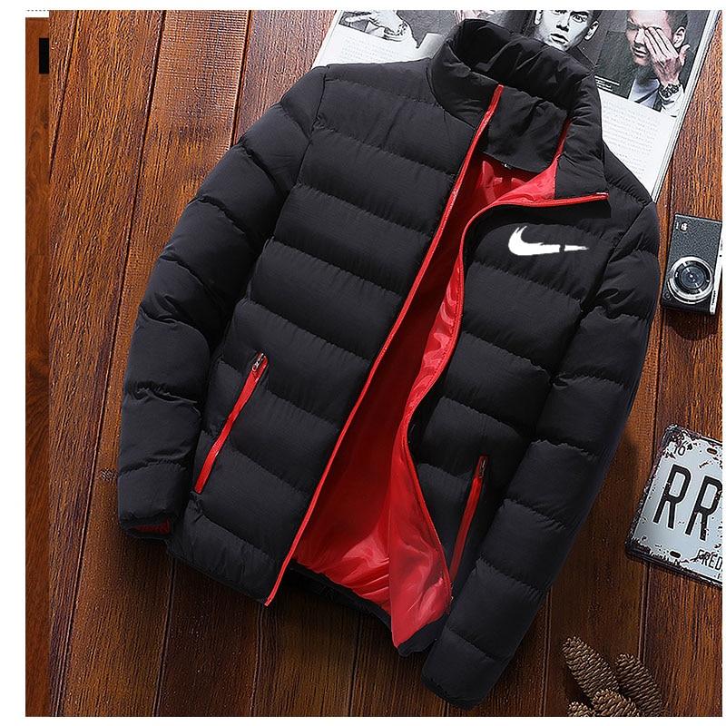 Зимняя мужская куртка 2020, модная ветрозащитная теплая Парковая куртка с воротником, Мужская однотонная Толстая куртка, Мужская одежда, Парк...