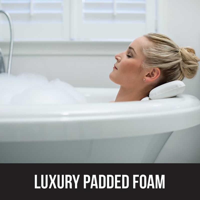 Nueva almohada para bañera de alta calidad, almohada para bañera fuertes ventosas, soporte para el cuello, almohada para bañera, impermeable, antimoho, fácil de limpiar