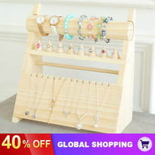 Solid Wood Jewelry Rack Hanging Necklace Bracelet Jewelry Rack Ring Storage Rack Counter Display Jewelry Display Props