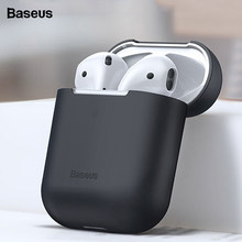 Baseus Earphone Case For AirPods Colorful Silicone Cover For AirPods 2 1 Case Wireless Bluetooth Earphone Case For Airpods 2019(China)