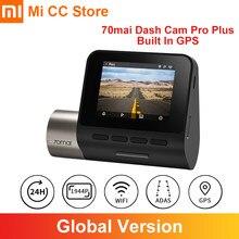 Versión Global 70mai inteligente Cámara de salpicadero Pro Plus 70 mai coche DVR GPS incorporado 1944P velocidad coordenadas ADAS Parking 24 horas Camcorder