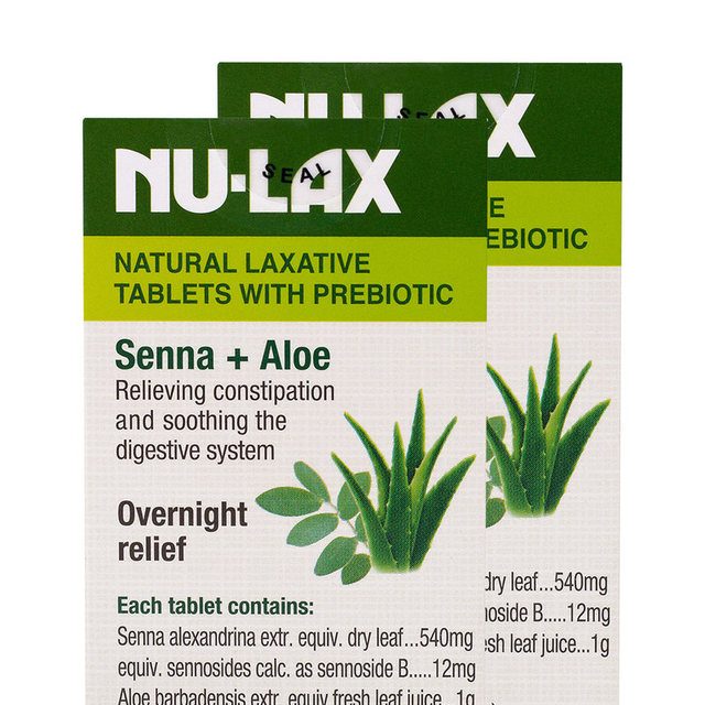 NuLax Natural Laxative 40Tablets with Prebiotic Senna Aloe Constipation Treatment Overnight Relief Stimulating Bowel Evacuation 2