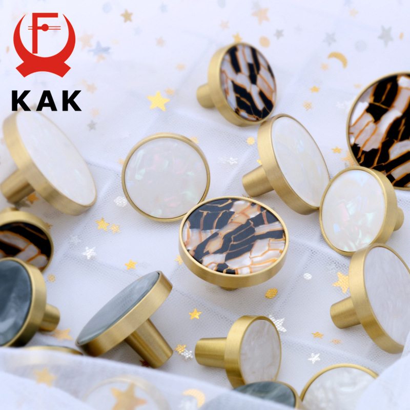 KAK Brass Hooks Shell Nordic Pastoral Gold Cabinet Knobs Bathroom  Kitchen Hallway Clothes Wall Hangings Hooks Furniture Knobs