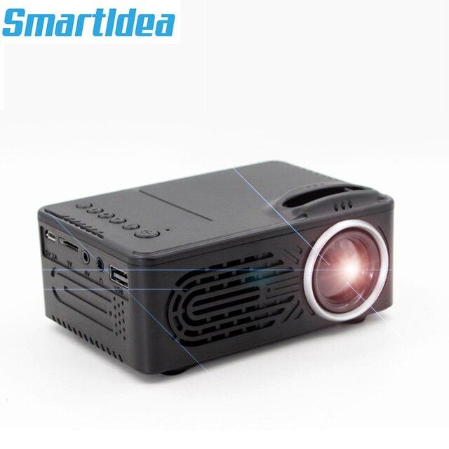 SmartIdea חדש מיני LED מקרן וידאו משחק נייד Proyector אודיו/AV/USB/SD לבנות ב סוללה אופציונלי זול מחיר