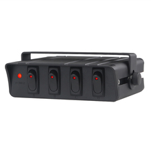 4 6 Gang Auf/Off Rocker Schalter Box 60Amp 12V SPST Boot Yacht Lkw Auto Rocker Switch Panel marine Mit Led anzeige licht