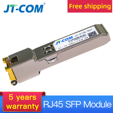 Buy 10pcs SFP Module RJ45 Connector 1000Mbps SFP Copper RJ45 SFP module Compatible with Cisco/Mikrotik Gigabit Ethernet Switch directly from merchant!