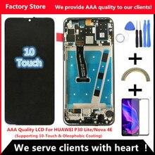 2312*1080 calidad AAA LCD con marco para HUAWEI P30 Lite Lcd pantalla para HUAWEI P30 Lite pantalla Nova 4e MAR LX1 LX2 AL01