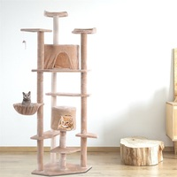 80 High Quality Comfortable and Soft Fabrics Cat Tree Condo Furniture Pet House Sisal Rope Cat Post High Stability Cat Tree