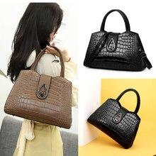 2019 New Alligator Women Handbag Brand Luxury Leather Vintage Large Shoulder Bags Designer Ladies Hand Sac A Main