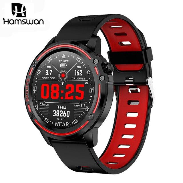 L8 sport inteligentny zegarek mężczyźni Hamswan z ekg + ciśnienia krwi ppg tętno IP68 wodoodporny smartwatch fitness z nadajnikiem kobiety PK L5