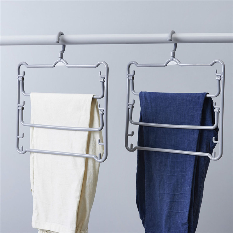 Multi-functional Hanger Drying Rack Holder Multi-Layer Towels Scarf Clothes Hanging Shelf For Home Storage Pants Rack Clip