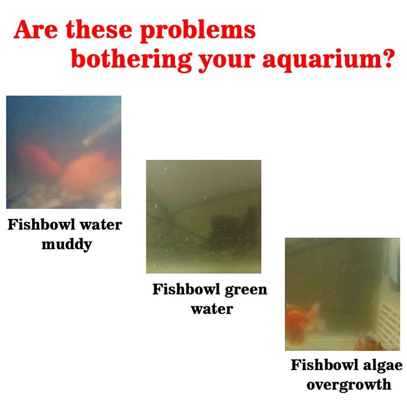 Algae Purifier Aquarium Safe Algae Remover Water Purification for Fish Tank Ponds GQ