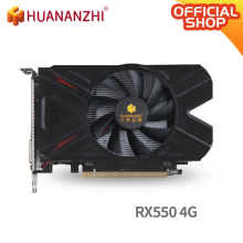 Huananzhi Rx 550 4G Grafische Kaart 128Bit GDDR5 4096Mb 1183Mhz Hdmi Dvi Dp 14Nm 512 Eenheden 80W Video Card